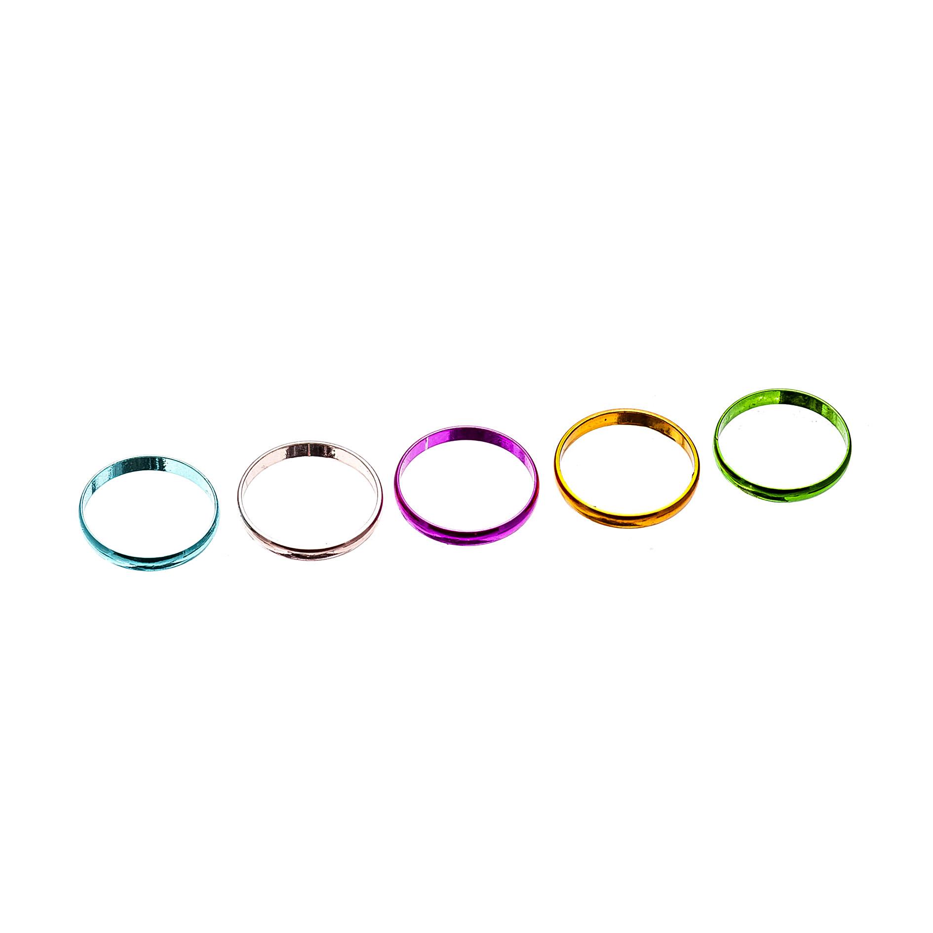 七彩金属色戒指圈