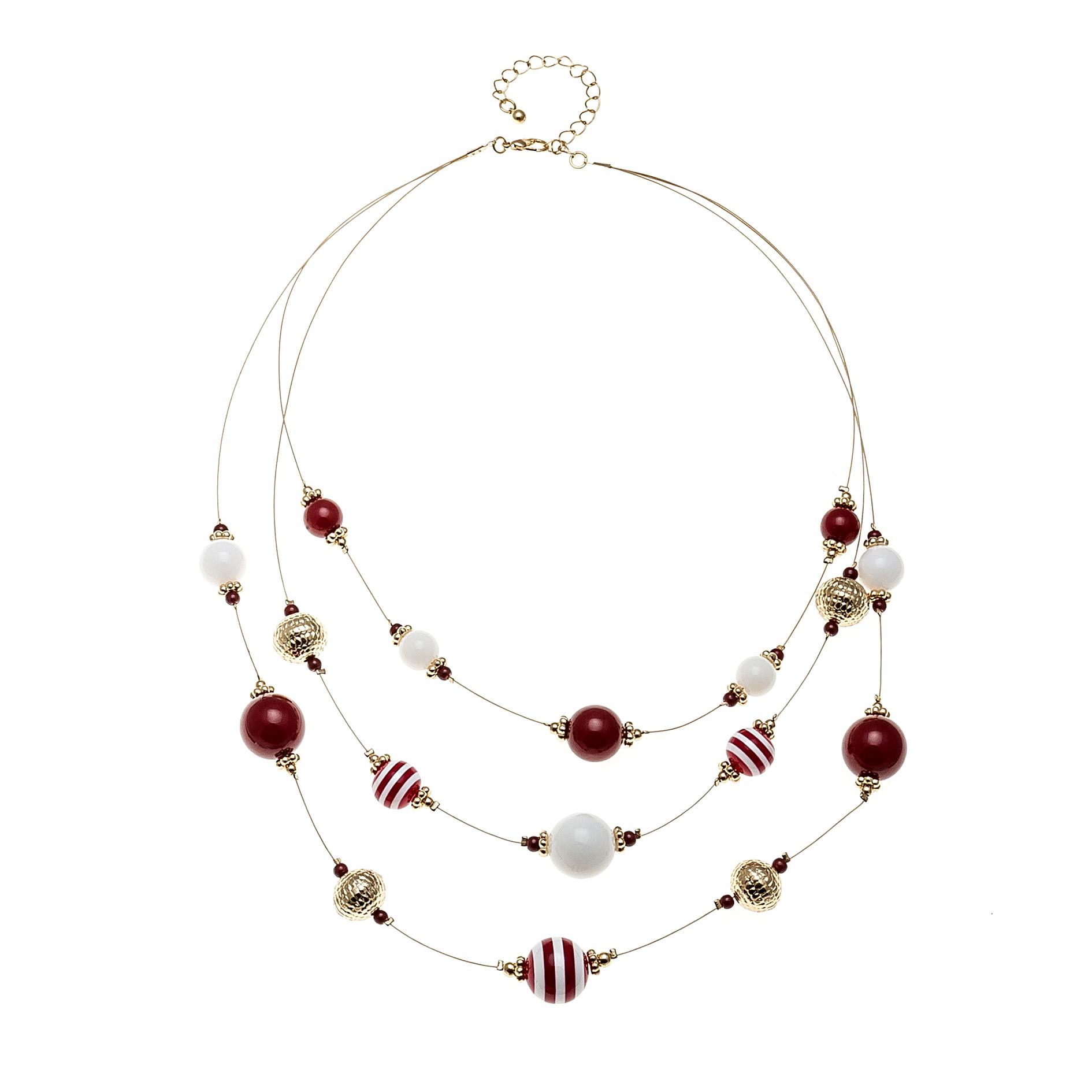 多层欧美条纹珠子项链