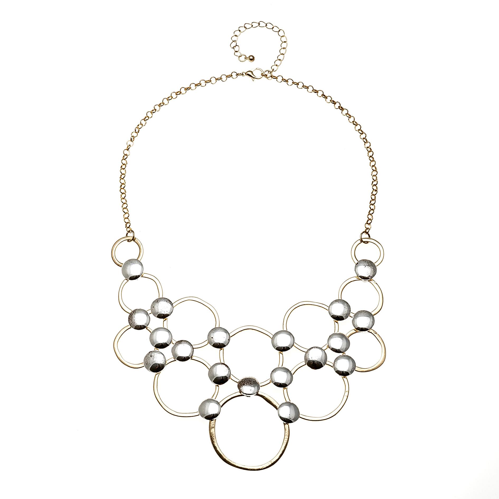 圆圈金属夸张项链