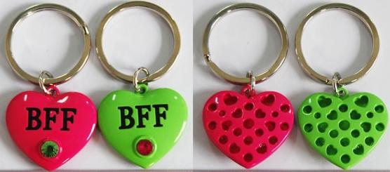 可爱两个一套钥匙扣