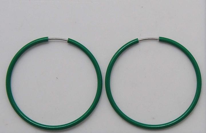田园绿光面铝制耳圈