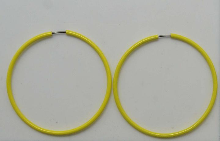 荧光黄色光面耳圈