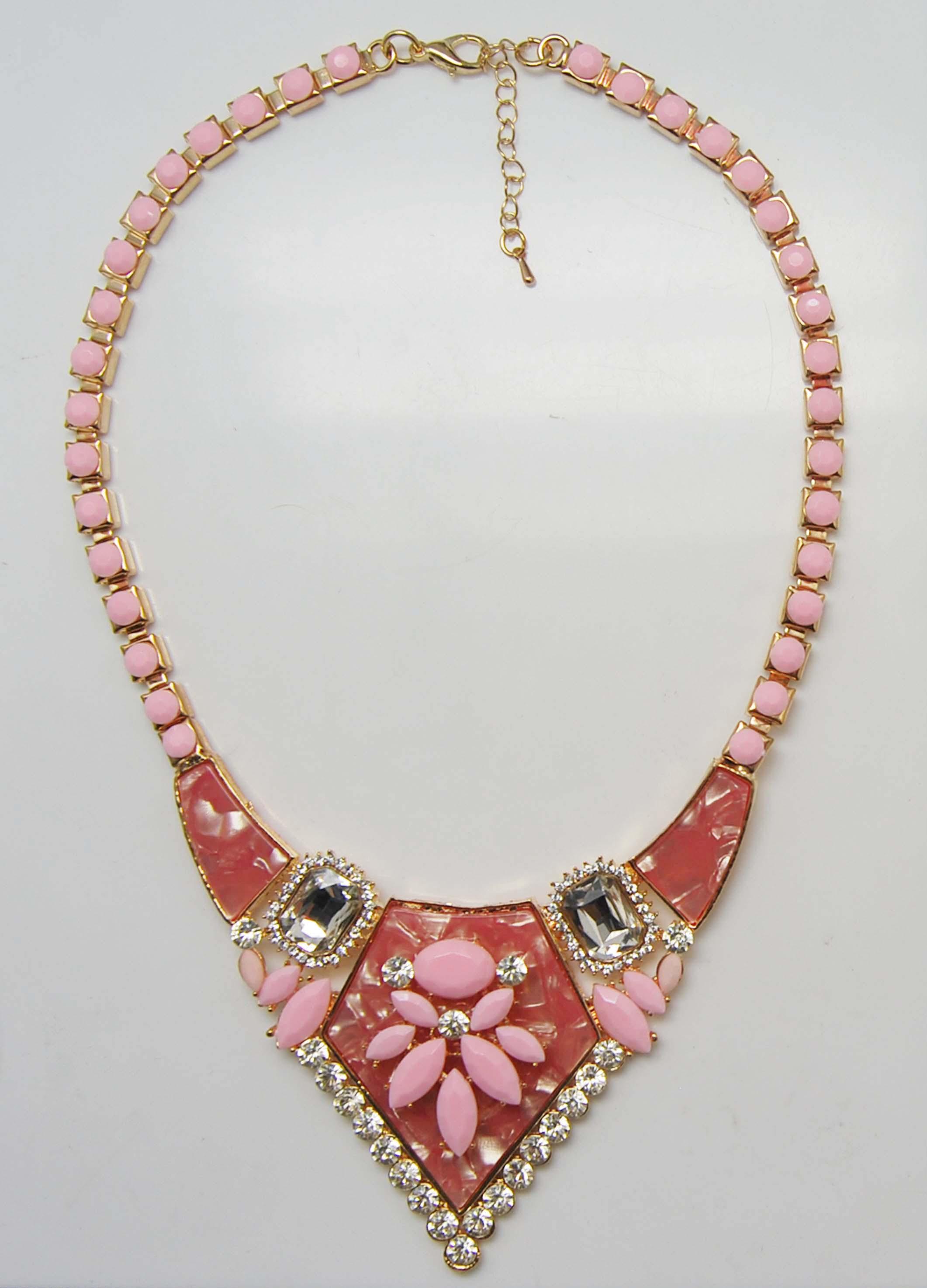 可爱甜美粉色系时尚项链