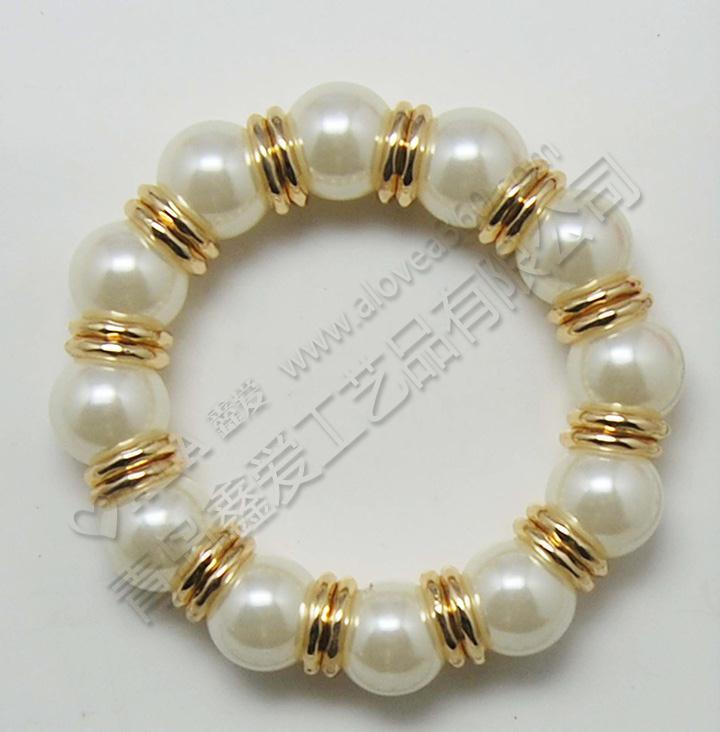 精美珍珠简约百搭弹力手链