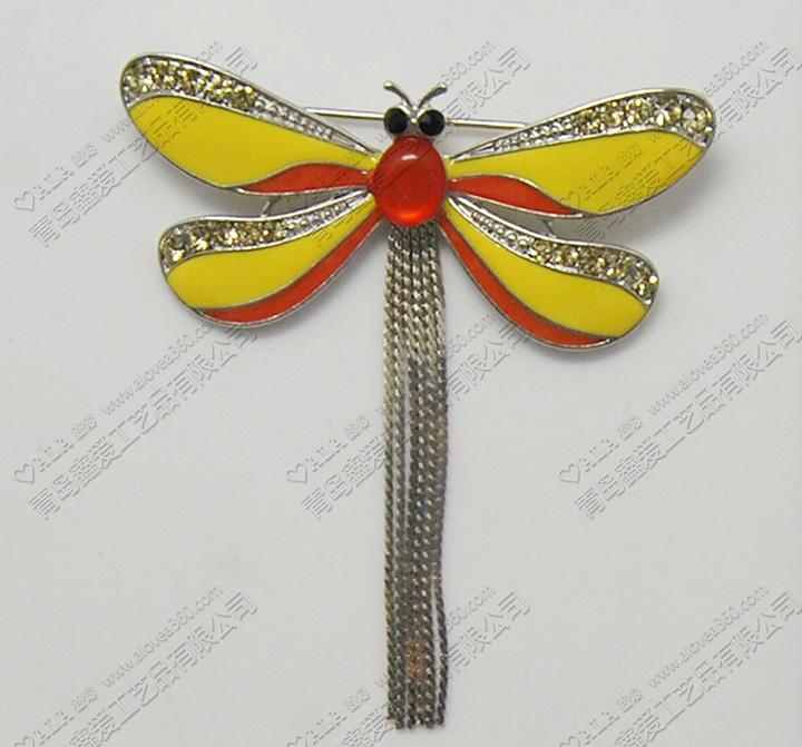 艳丽蜻蜓精美百搭时尚胸针
