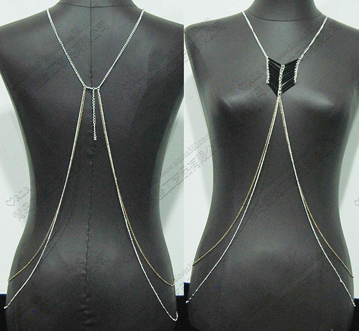 简约时尚上身欧美风身体链
