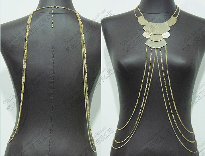 欧美风金属时尚百搭身体链