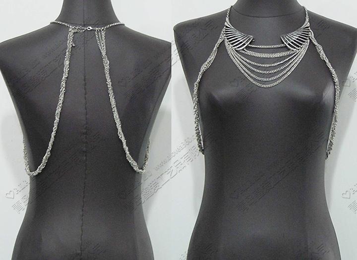 大块翅膀颈圈时尚身体链