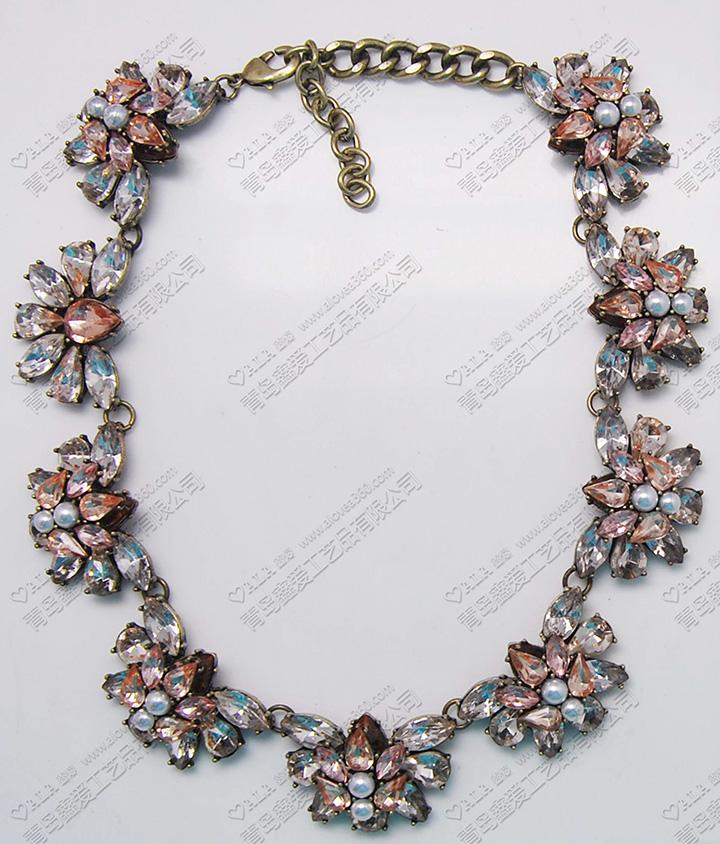 欧美风高档瑞丽宝石镶嵌时尚项链