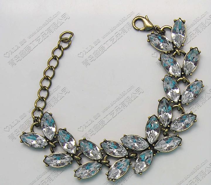 外贸饰品镶嵌马眼宝石合金时尚手链