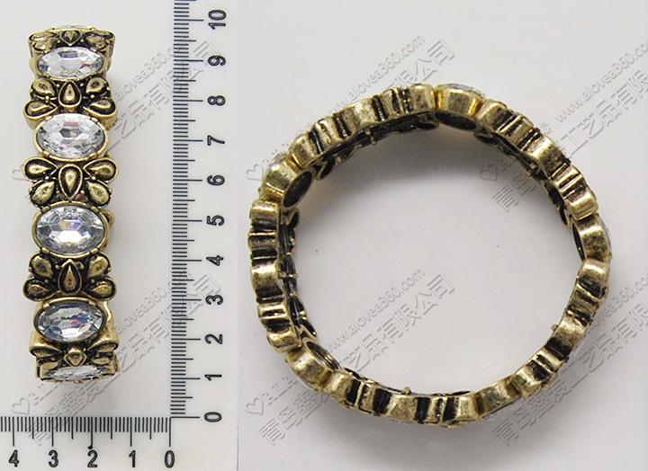 欧美新款花形锌合金时尚弹力手链