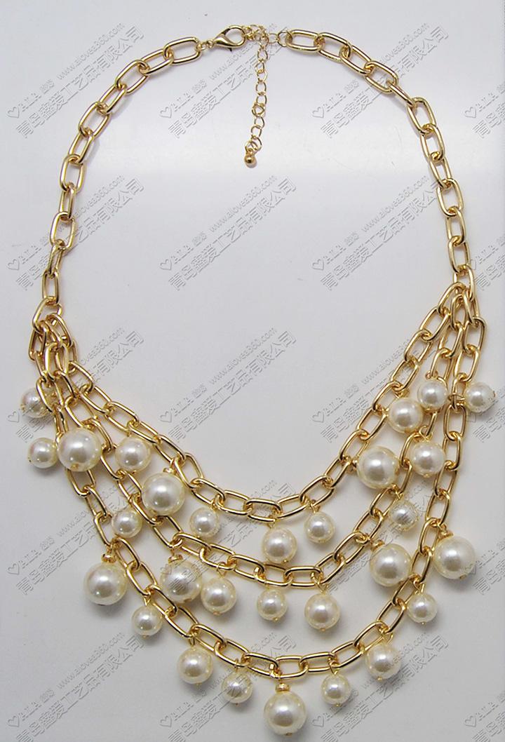 多层外贸出口精美时尚百搭珍珠项链