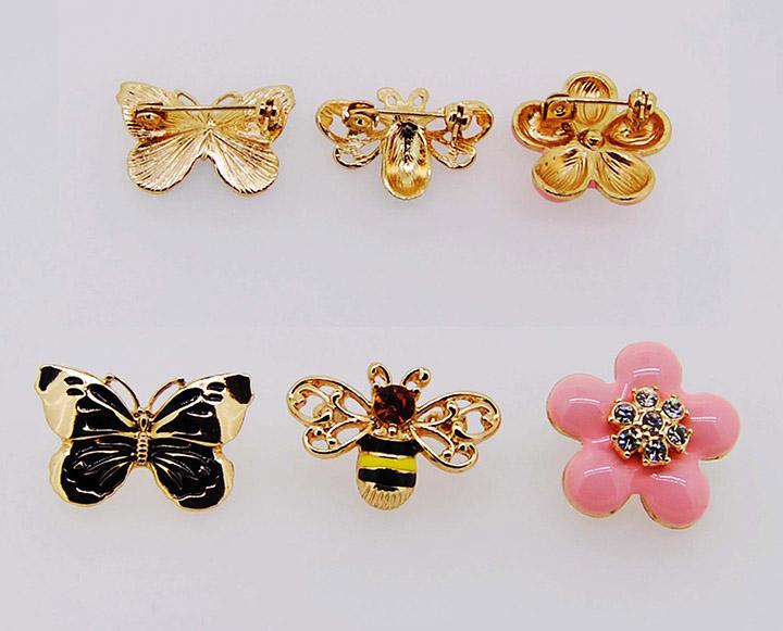 蝴蝶蜜蜂小花精美百搭日韩时尚胸针