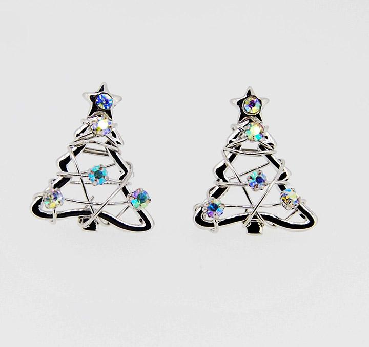 五角星圣诞树简约圣诞节系列耳环耳钉
