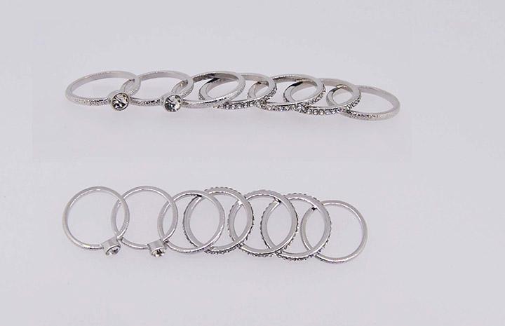饰品工厂简约瑞丽百搭精美小巧多个一套戒指圈批发定制