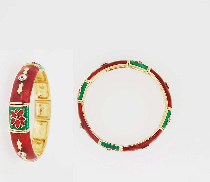 饰品工厂圣诞节系列滴油宫廷风松紧线手链批发定制
