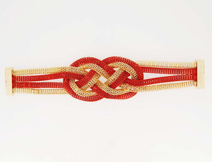 外贸饰品工厂中国结编织链条欧美吸铁石手链批发定制