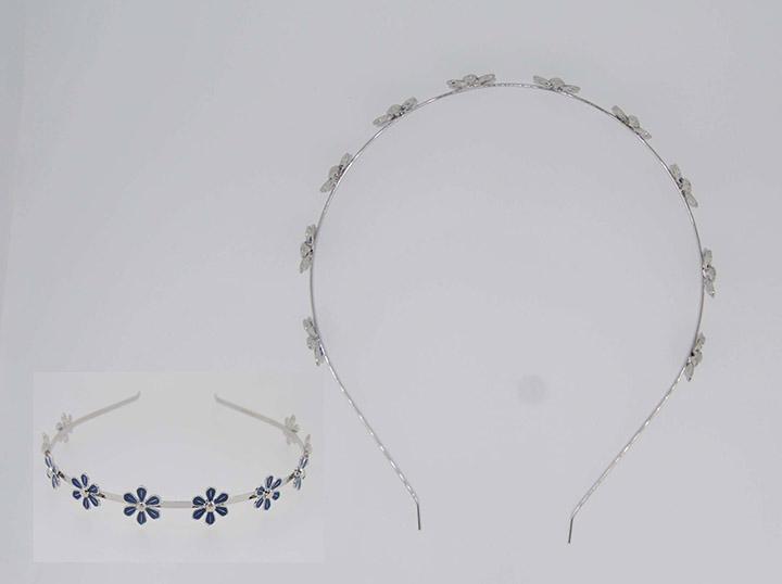 外贸饰品工厂简约百搭小花金属发夹批发定制