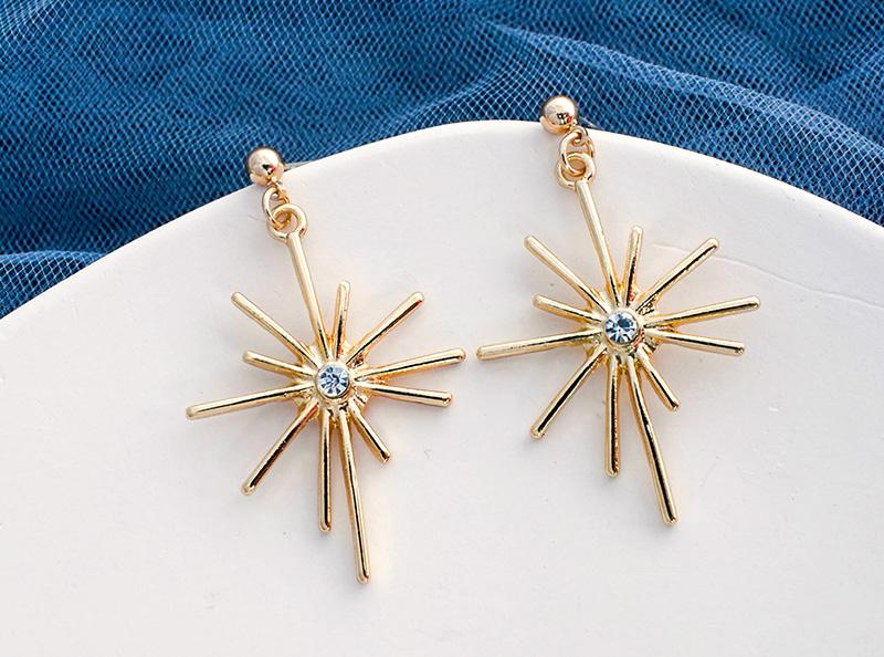 日韩时尚烟花设计耳钉925银针潮流饰品厂家