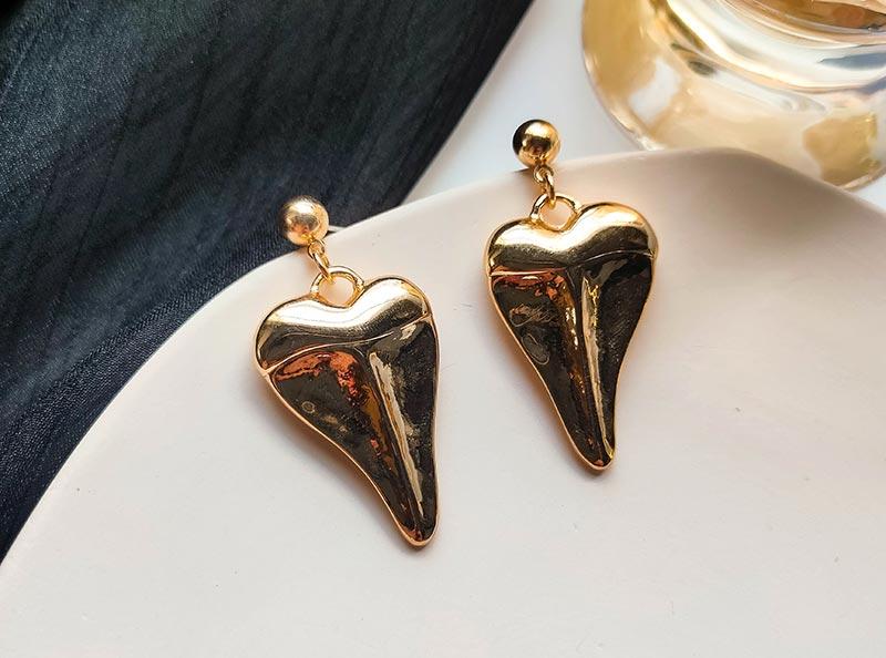 复古几何金属不规则耳环批发